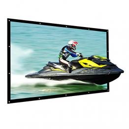 "Beamer Leinwand, NIERBO 250"" Projektionsleinwand Heimkino 3D | 16 9 Projektionsleinwand DLP LCD LED 557X317 cm - 1"