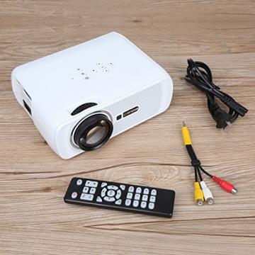 Crenova® XPE460 LED Upgrade Beamer 1200 Lumen 800*480 Auflösung Augenschutz inklusive HDMI Kabel für das Heim- Gartenkino verknüpfbar mit TV Laptop PC Spielekonsole Media Player SD Karte unterstützt iPad iPhone Android Smartphone - 7