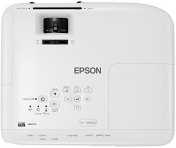 Epson EH-TW650 3LCD-Projektor (Full HD, 3100 Lumen, 15.000:1 Kontrast) - 5