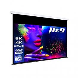 "eSmart Germany MIROLO | Rolloleinwand | 244 x 137 cm (113"") 16:9 | Vollmaskierung| Heimkino Beamer Projektionsleinwand Rollo Leinwand LCD LED - 1"