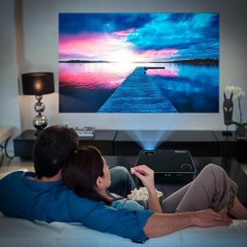 HD Beamer, RAGU 720P HD Video LCD Beamer Unterstützung 1080p, Heimkino Multimedia Video Office Projektor HD 1080P 5.8
