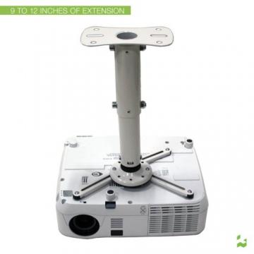 Kanto P101WUniversal Beamer / Projektor Deckenhalterung mit ausziehbar von 30,5cm (weiß) - 4